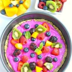 healthy fruit pizza oats
