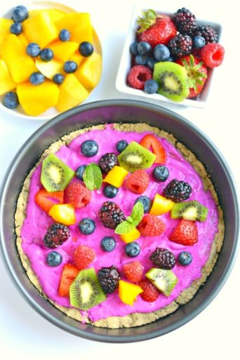 healthy fruit pizza oats
