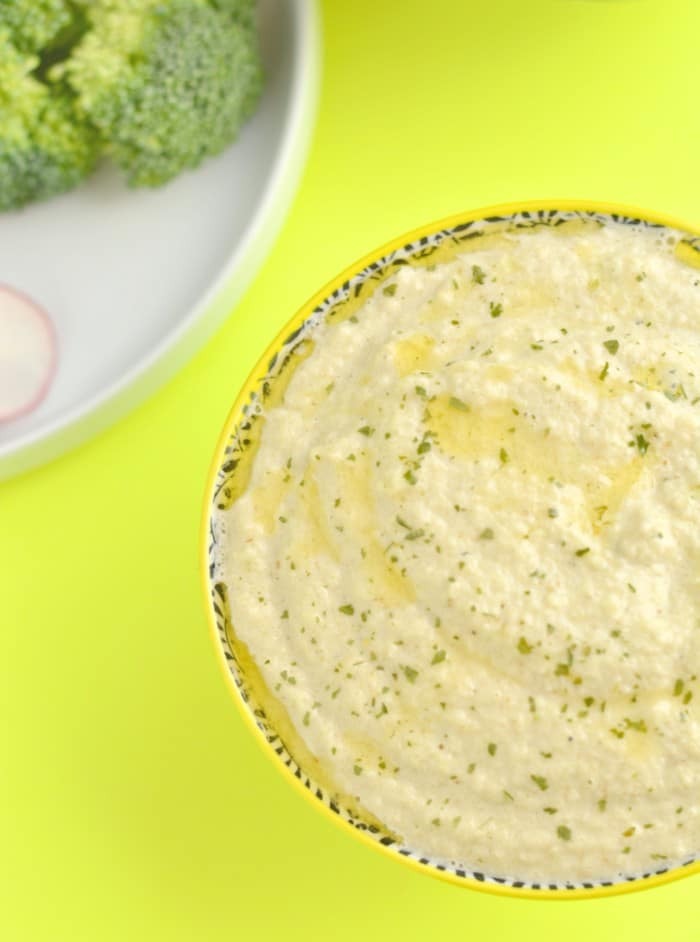 This Paleo Zucchini Hummus is flavorful, light and refreshing! Perfect to bring to a summer BBQ or to munch on all summer long.