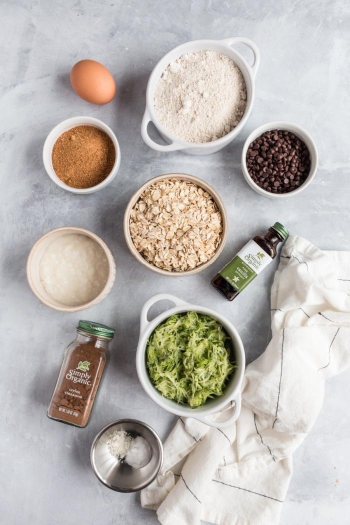 ingredients for zucchini cookies