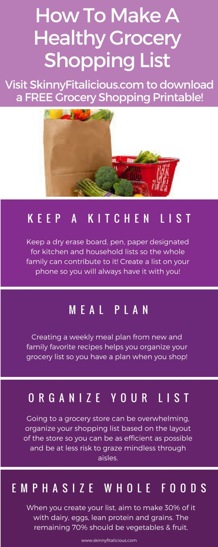 how to make a healthy grocery shopping list skinny fitalicious