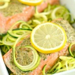 Lemon Herb Salmon Zucchini