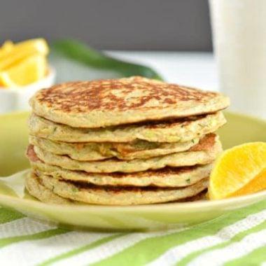 Zucchini Greek Yogurt Pancakes