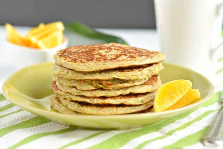 Zucchini Greek Yogurt Pancakes