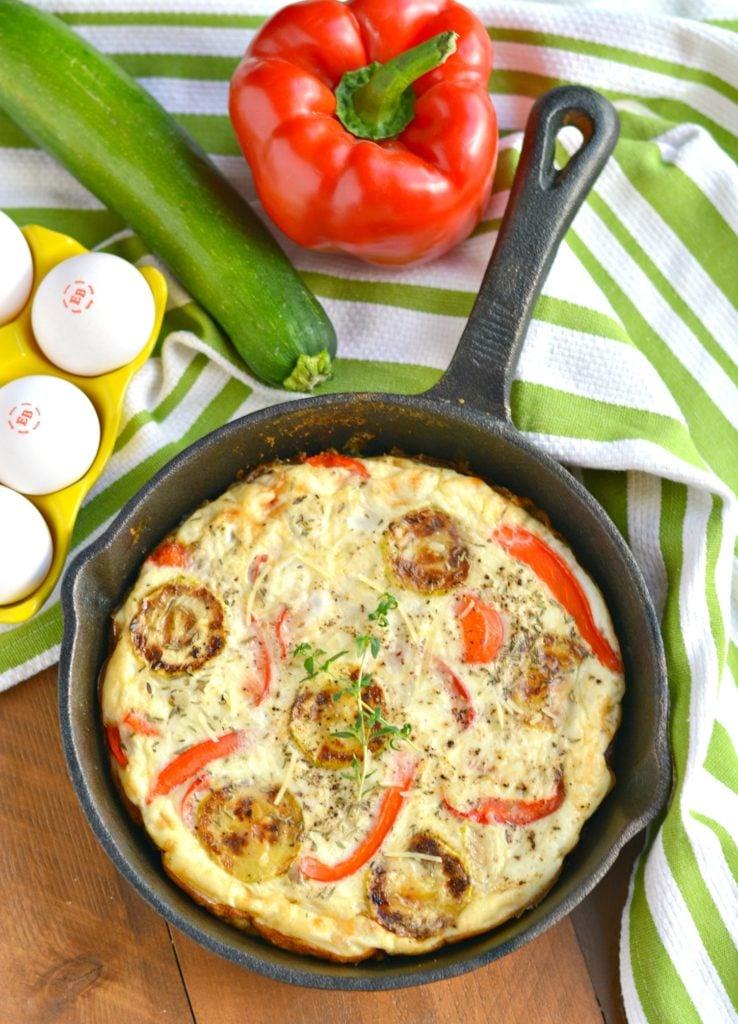 Red Pepper Zucchini Frittata