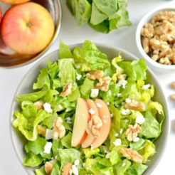 Balsamic Apple Walnut Salad {GF, Low Cal}