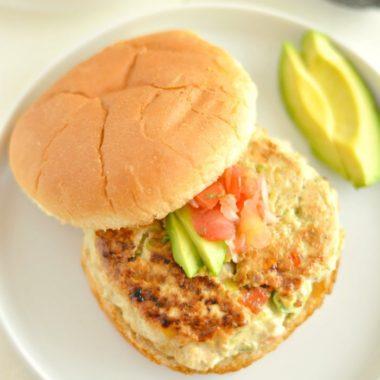 Chicken Guacamole Burgers