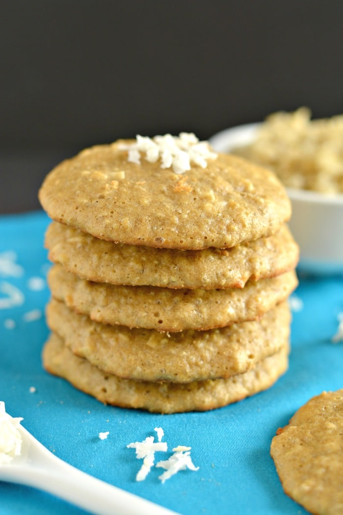 These Quinoa Cookies laced with coconut and cinnamon are soft, chewy and melt-in-your-mouth. Made with a handful of healthy ingredients and packed with protein and whole grains, you couldn't ask for a better cookie!
