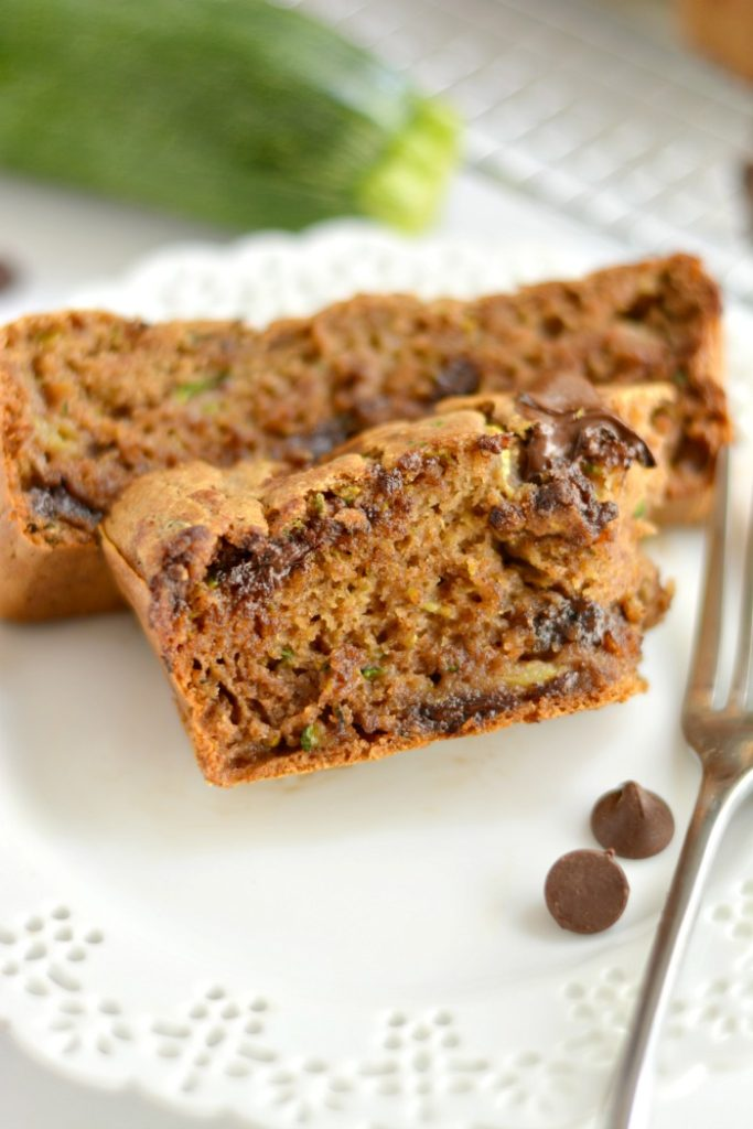 Low Fat Chocolate Zucchini Bread made with no added sugar or oil. A lighter and healthier zucchini bread that's most, creamy, incredibly addicting and guaranteed delicious!