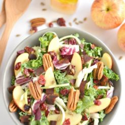 Apple Bacon Pecan Salad {GF, Low Cal, Paleo}