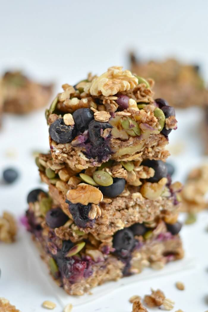 Blueberry protein bars
