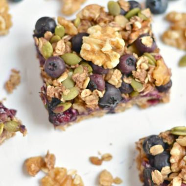 Blueberry Pumpkin Walnut Breakfast Bars