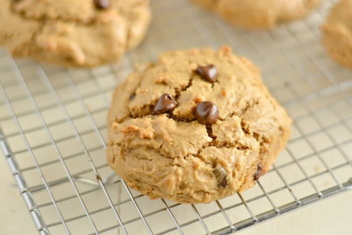 OMG Good Low Carb Chocolate Chip Cookies! Creamy, insanely buttery, thick, rich cookies bursting with rich chocolatey goodness! Hearty low carb cookies so good you may have to hide them. Gluten Free + Low Calorie