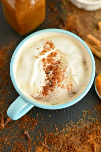 Turmeric Pumpkin Spice Coffee Syrup {GF, Low Cal, Vegan, Paleo}