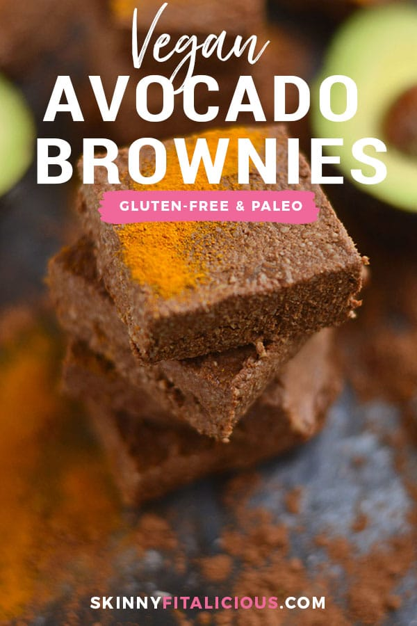 Fudgy Chocolate Avocado Brownies naturally sweetened and loaded with antioxidants. A delicious and healthy way to satisfy a sweet tooth! Vegan + Paleo + Gluten Free