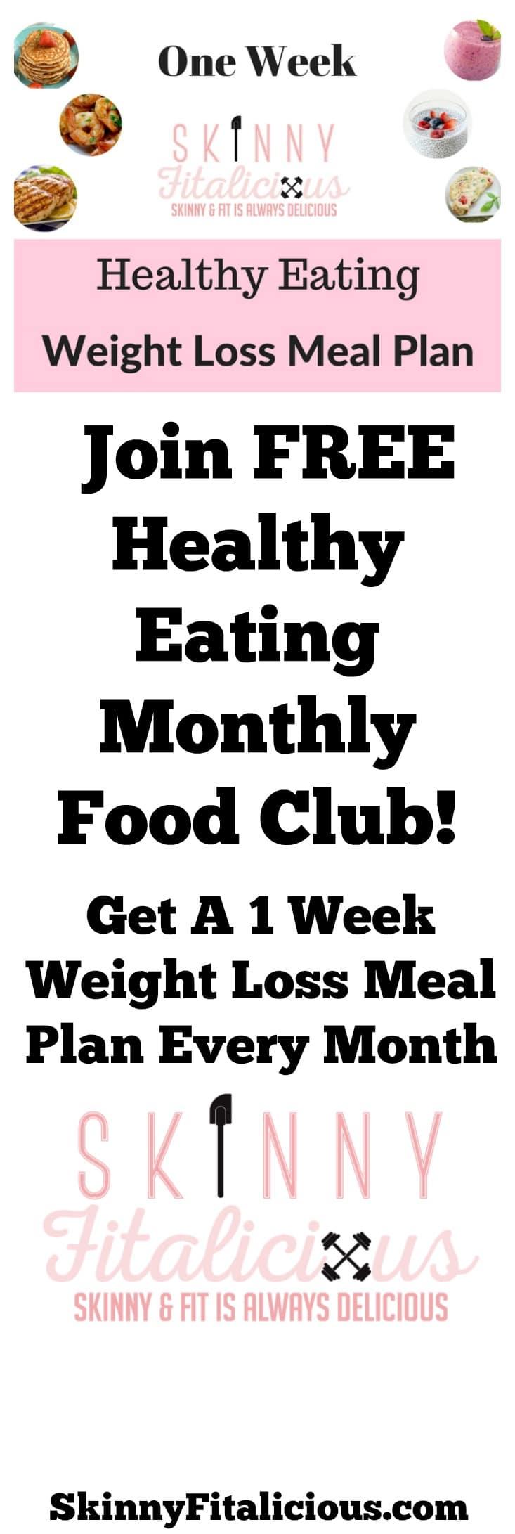 One Week Meal Plan Monthly Club