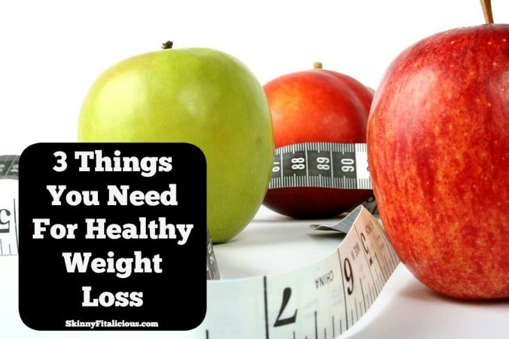 Today I'm sharing 3 Things You Need For Healthy Weight Loss. Three very important things. Before I share them, here's why they're important.