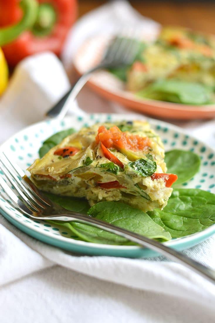 Crockpot Veggie Omelet {GF, Paleo, Low Cal} - Skinny ...