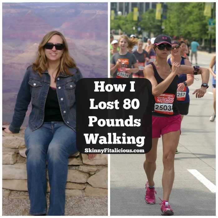 Over the course of a year, I lost weight by not dieting, walking daily and fueling my body properly. Here's How I Lost 80 Pounds Walking.