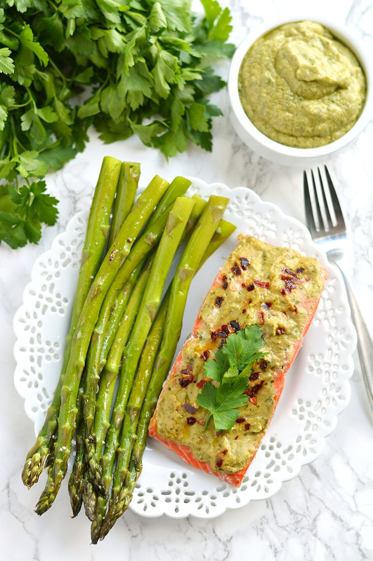 20 minute baked pesto salmon gf low cal paleo skinny fitalicious steamed in foil packs this paleo low calorie forumfinder Gallery