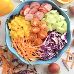 Rainbow Detox Salad with Orange Dressing {GF, Low Cal, Vegan, Paleo}