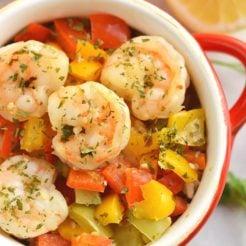 10 Minute Shrimp & Rice {GF, Low Cal}