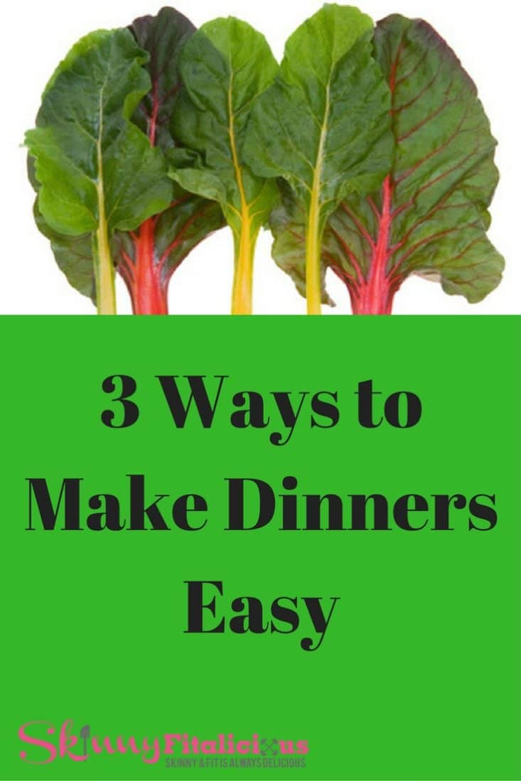 Making dinner can be time consuming, but there are several ways you can make it easy and use as delicious. Here's 3 ways to make dinners easy!