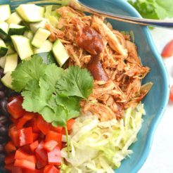 BBQ Chicken Taco Bowls {GF, Low Cal}