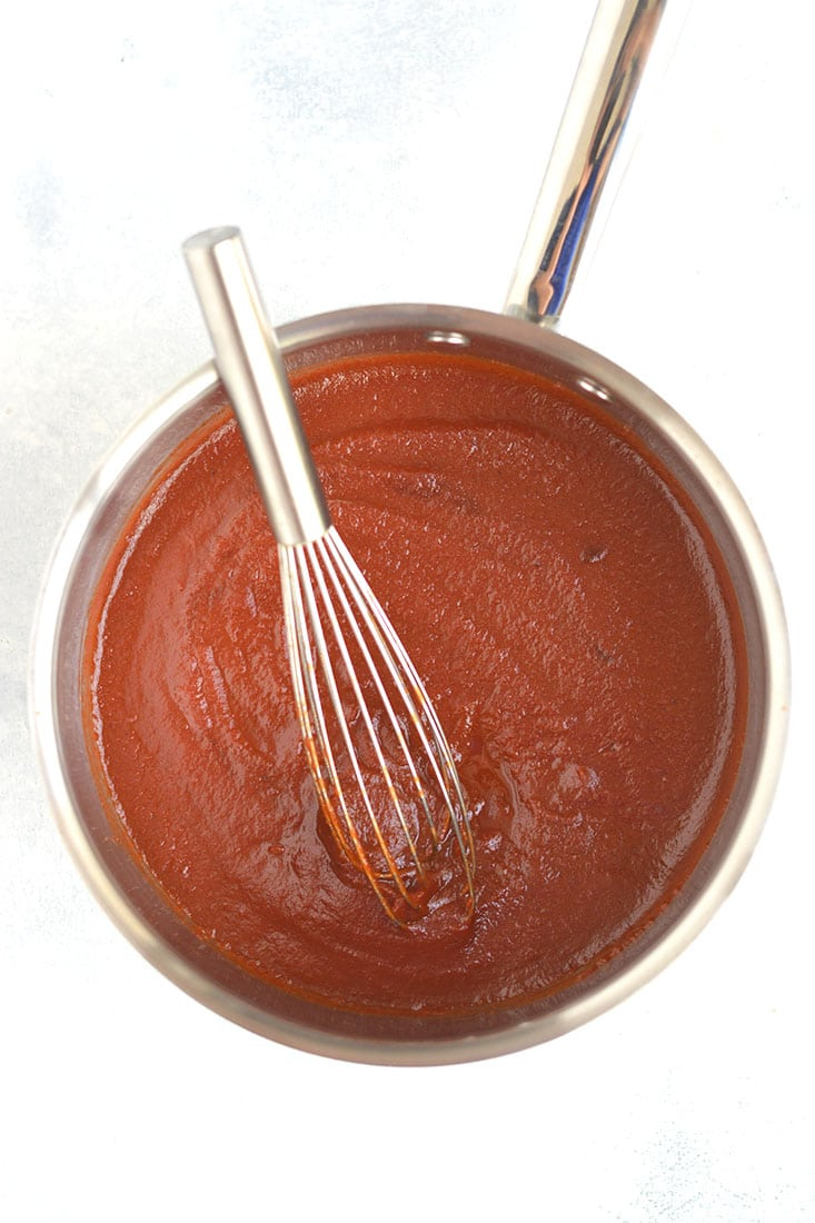 This Low Sugar BBQ Sauce is sweet, smoky, tangy & super tasty! Made low in sugar with wholesome ingredients. Incredibly easy to make too! Perfect for salads, grilling, baking, or the crockpot! Vegan + Gluten Free + Low CalorieThis Low Sugar BBQ Sauce is sweet, smoky, tangy & super tasty! Made low in sugar with wholesome ingredients. Incredibly easy to make too! Perfect for salads, grilling, baking, or the crockpot! Vegan + Gluten Free + Low Calorie