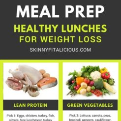 How to Meal Prep Healthy Lunches for Weight Loss as well as tips for pairing foods together properly so you're eating the right portions.How to Meal Prep Healthy Lunches for Weight Loss as well as tips for pairing foods together properly so you're eating the right portions.