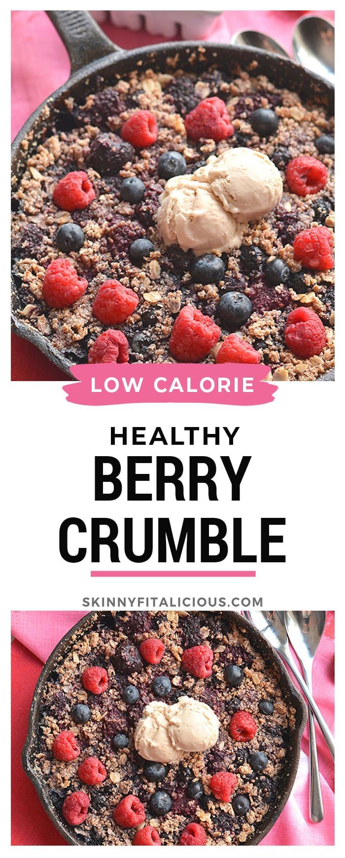 Healthy Berry Quinoa Crumble!A gluten free, protein-packed warm weather dessert. Lightly sweetened, perfect for sharing and parties! Gluten Free + Vegan