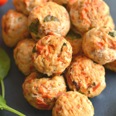 Meatballs for breakfast! These protein & veggie packed balls are great for prepping in advance. Serving with eggs & take with you on the go. Easily customizable, simple to make & delicious!