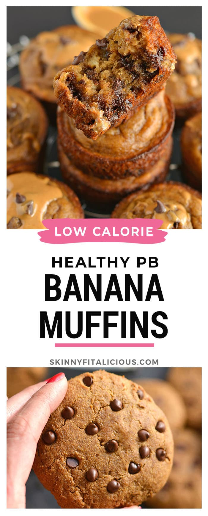 Flourless Peanut Butter Chocolate Chip Blender Muffins made with 8 every dayingredients. This soon to be favorite recipe'sa quick mix in the blender for the easiest baking of your life!