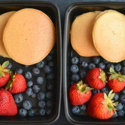Meal Prep Almond Flour Pancakes {GF, Low Carb, Paleo, Low Cal}