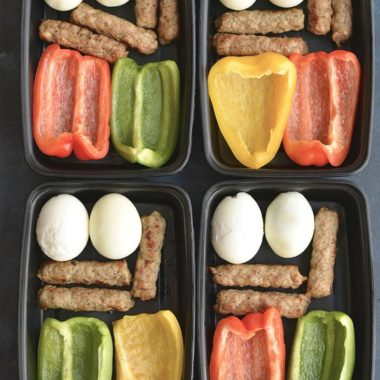 Meal Prep Breakfast PRO Bowls!Meal prep breakfast like a PRO with these protein + produced packed make ahead breakfasts. Prep the food over the weekend and toss them in a meal prep container to take with you on the go. Breakfast never got easier or healthier! Gluten Free + Low Calorie + Paleo