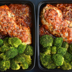 Meal Prep Pizza Chicken {GF, Low Calorie}