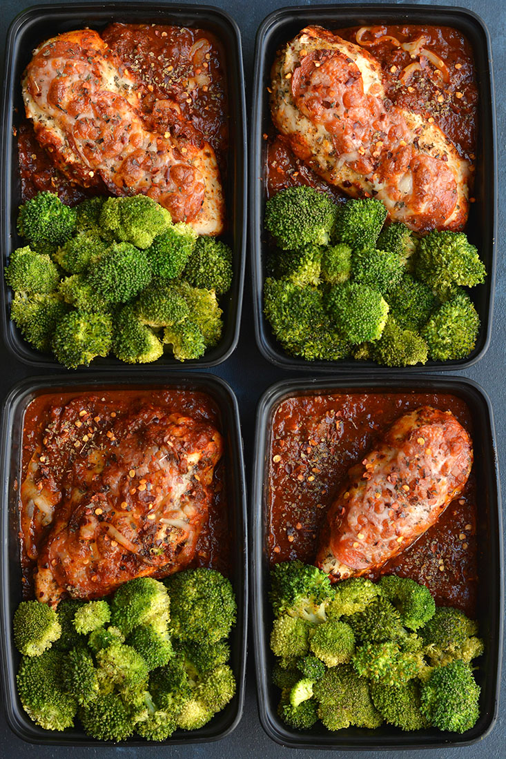 Meal Prep Pizza Chicken! Chicken dinner winner! This one skillet, low carb  meal
