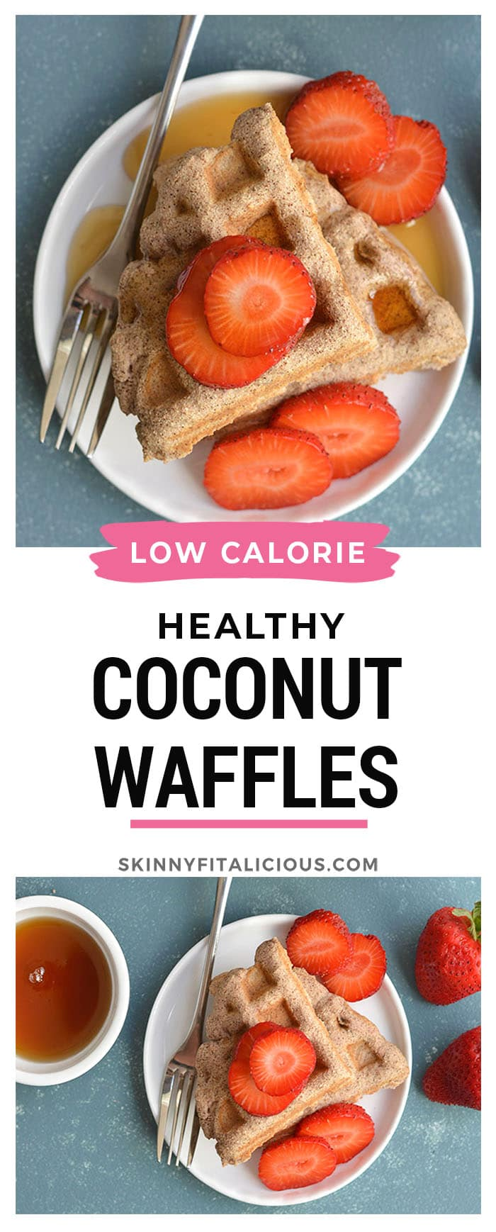5 Ingredient Coconut Flour Waffles! Made with real food ingredients, these low carb waffles are the perfect fuel for a busy morning or weekend breakfast.