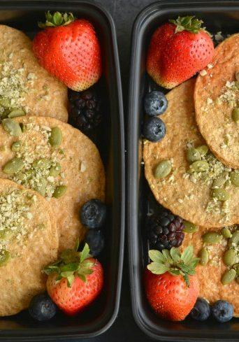 Meal Prep Pumpkin Protein Pancakes