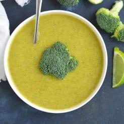 Meal Prep Broccoli Butternut Soup {Vegan, Paleo, GF, Low Cal}
