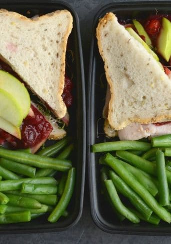 Meal Prep Cranberry Turkey Sandwich {GF, Low Cal}