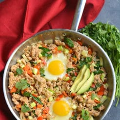 Meal Prep Low Carb Breakfast Hash {Paleo, Whole30, GF, Low Cal}
