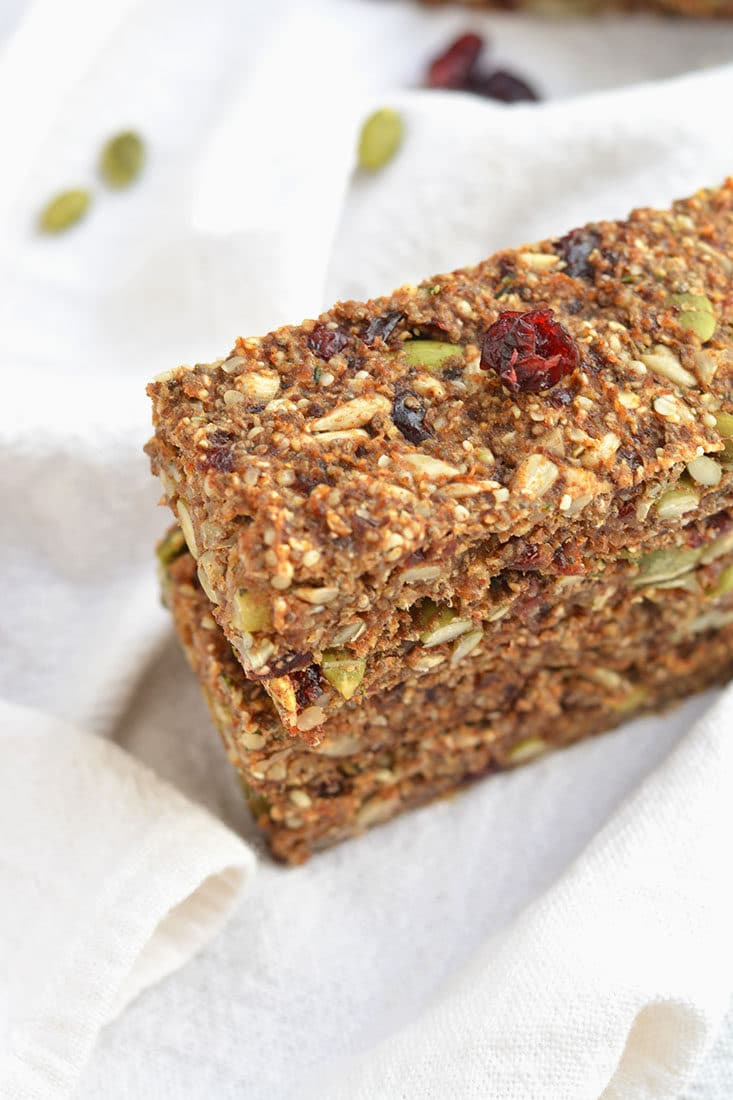 Vegan Hormone Balancing Bars are the perfect snack for getting omega-3's for hormone function. Proper hormone function is key to weight loss & good health. Vegan + Gluten Free + Low Calorie