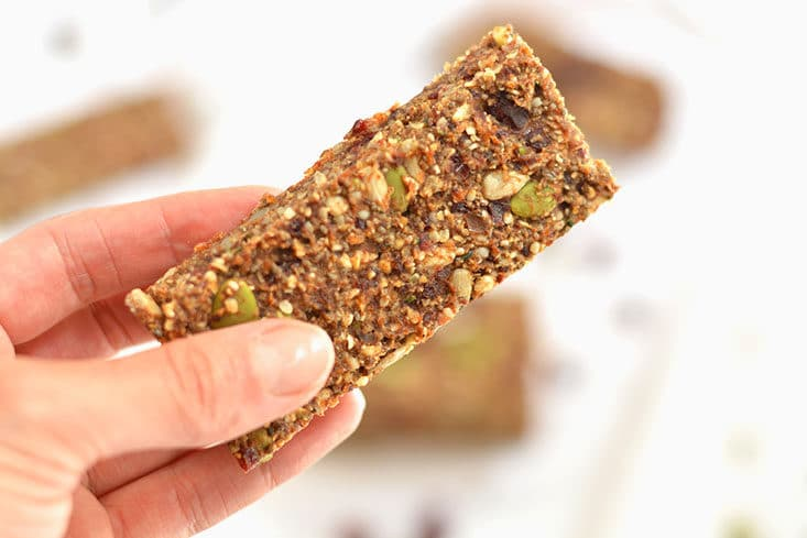Vegan Hormone Balancing Bars are the perfect snack for getting omega-3's for hormone function. Proper hormone function is key to weight loss & good health.