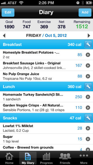 my-fitness-pal-calories