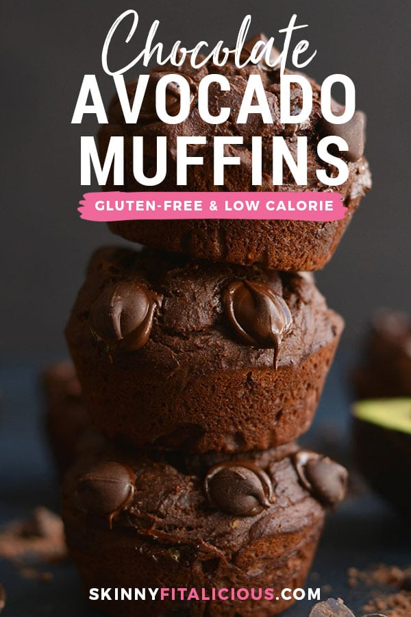 Makemuffins part of your morning routine with these Gluten Free Chocolate Avocado Muffins! High in protein, lower in sugar and made with simplewholesomeingredients. Portable, delicious and filled with CHOCOLATE! Gluten Free + Low Calorie