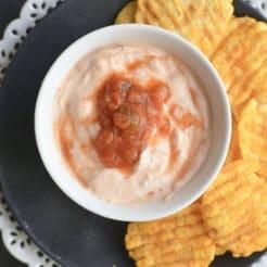 Greek Yogurt Salsa Dip + Healthy Game Day Dips