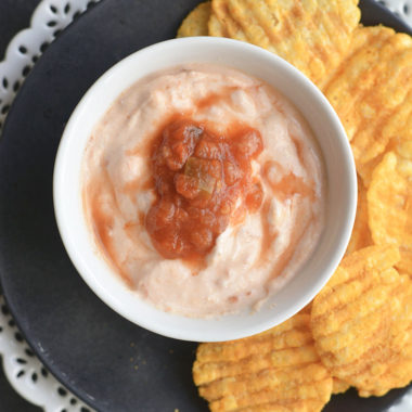 Greek yogurt salsa dip