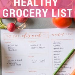 There is no right or wrong way to making a healthy grocery shopping list, but there are definitely a few ways you can stay organized.