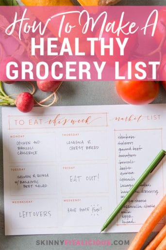 How To Make A Healthy Grocery Shopping List + FREE Printable